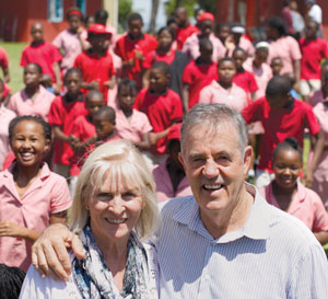 LIV Founders Tich and Joan Smith along with several LIV kids enjoy some South African sunshine.