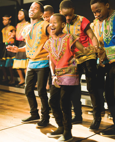 Members of LIV children's choir bring joy to their audience.