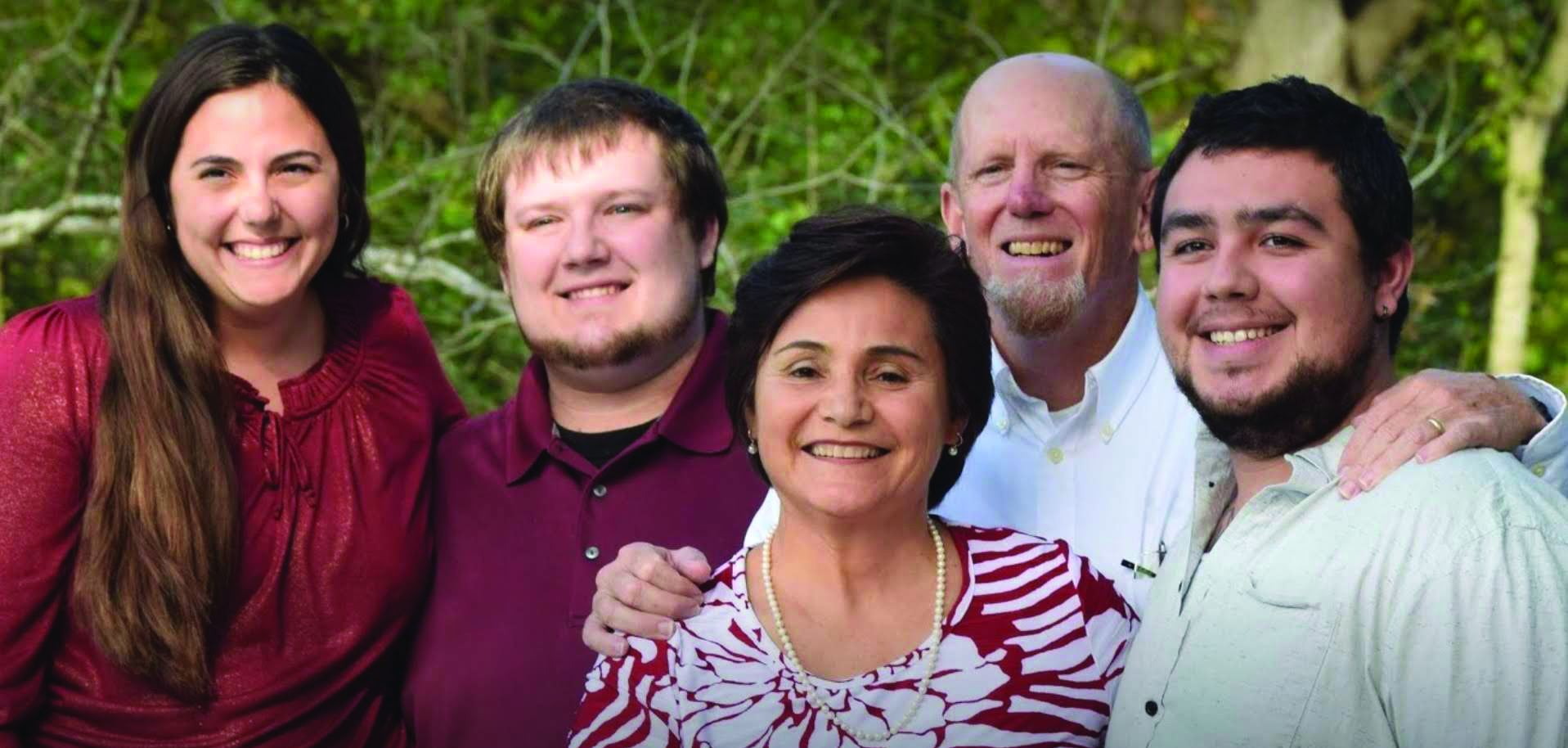 Pauline Pope, MIP South Texas coordinator, stands with her family. Left to right are Maria, Scotty, her husband Mike and Jimmy.