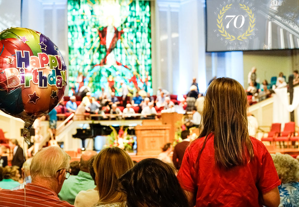 Trinity Baptist's 70th Anniversary Celebration Service featuring former pastors and staff, and a reunion choir concert on June 22.