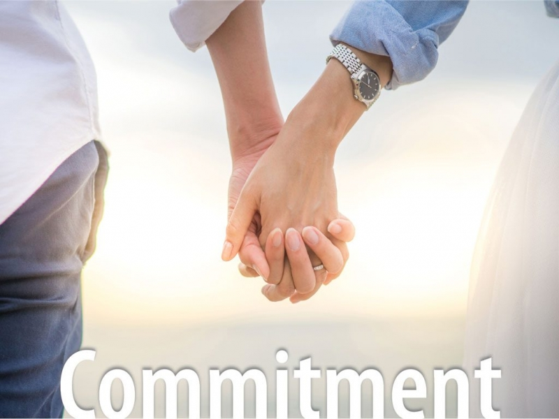 Commitment. More romantic than flowers.