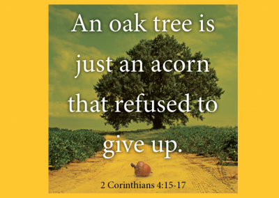 Devotional: Don't Give Up!